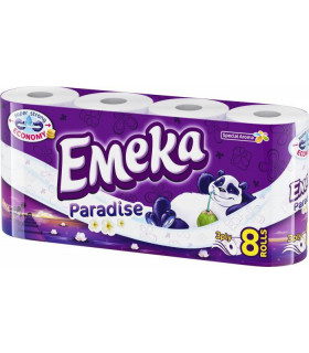 EMEKA HARTIE IGIENICA PARFUMATA 3 STRATURI  8 ROLE/SET